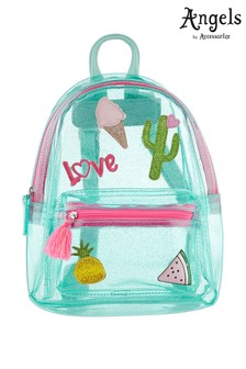 6de8d0801f Angels by Accessorize Blue Holiday Badge Jelly Backpack