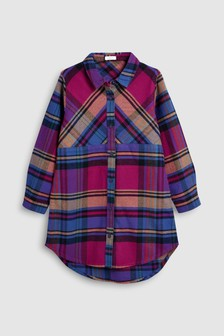 Check Longline Shirt Dress (3-16yrs)