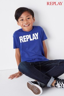 Replay® Kids Blue Logo T-Shirt