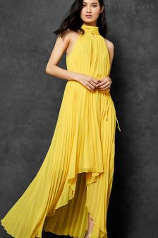Ted Baker Nadette Yellow Pleat Maxi Dress