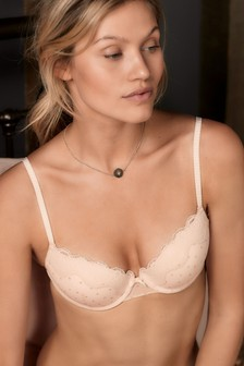 Emily Glitter Star Push Up Balcony Bra