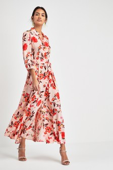 9b06eb4b5b Floral Print Shirt Dress
