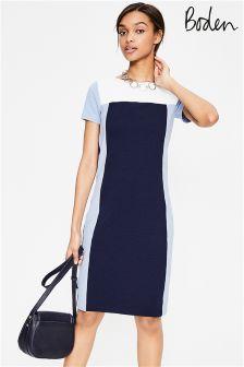 Boden Navy Hazy Sky Jeanette Ottoman Dress