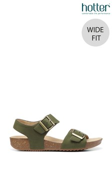 Hotter Tourist II Wide Fit Buckle Fastening Wedge Sandals