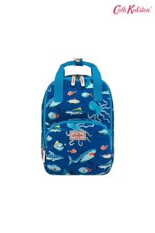 Cath Kidston® Blue Spooky Fish Medium Backpack