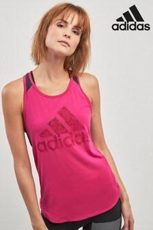 adidas Pink Mesh Tank