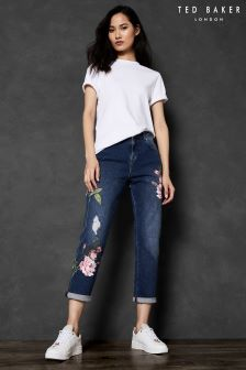 Ted Baker KHLOWE Floral Embroidered Boyfriend Jean