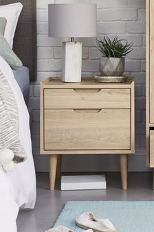 Stockholm 2 Drawer Bedside Table