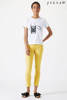 Jigsaw Yellow Garment Dye Richmond Jean