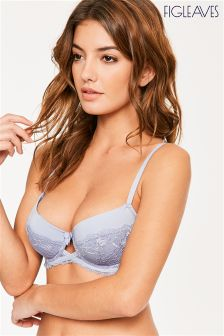 Figleaves Powder Blue  Notting Hill Balcony Bra