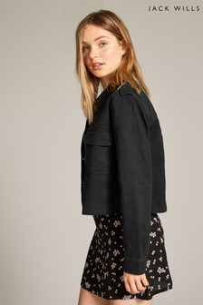 Jack Wills Black Highbury Utility Jacket