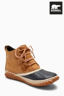 Sorel® Tan Elk Out 'N About Lace-Up Ankle Boot