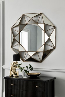 Extra Large Faceted Mirror