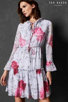 Ted Baker Floral Cold Shoulder Dress