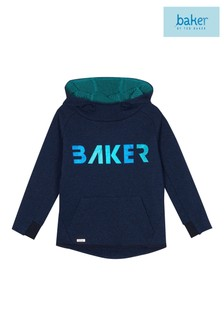 baker by Ted Baker Blue Overhead Slogan Sweat