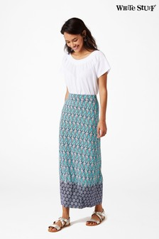 White Stuff Blue Amora Jersey Maxi Skirt