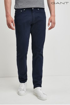 GANT Mens Navy Slim Bedford Jean