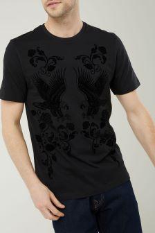 Floral Flock T-Shirt