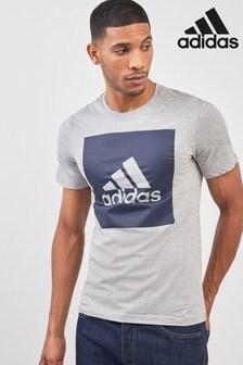 adidas Grey Big Logo Tee