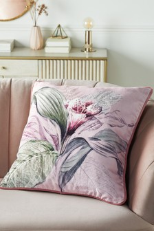 Pink Eden Floral Cushion