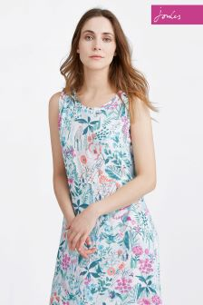 Joules Bright White Secret Garden Ava Dress
