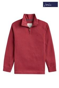 Joules Red Dalesman Pique Sweatshirt