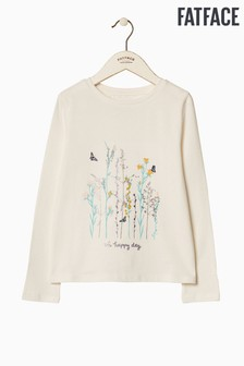 FatFace Natural Oh Happy Days Graphic Tee
