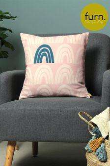 Furn Blush Recycled Polyester Be Kind Rainbow Cushion
