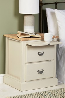 Huxley Painted 2 Drawer Bedside Table