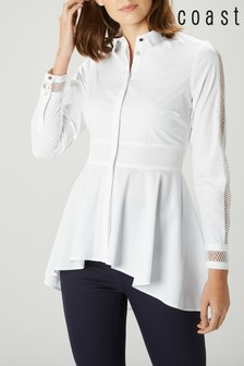 Coast White Louise Ladder Trim Shirt