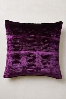 Ruched Velvet Cushion