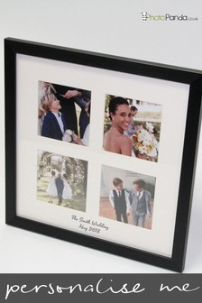 """Personalised Multi Picture 13x13"""" Framed Photo By Photo Panda"""