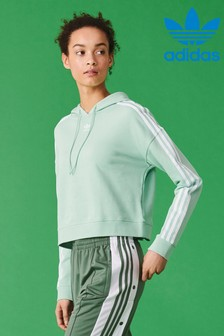 adidas Originals Green Cropped Hoody