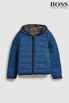 BOSS Blue/Grey Reversible Padded Jacket