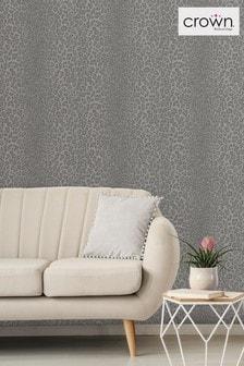 Crown Glamorous Faux Fur Wallpaper