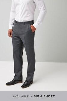 Regular Fit Check Wool Blend Suit: Trouser
