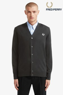 Fred Perry Black Classic Cardigan