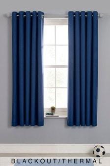 Plain Dye Blackout Eyelet Curtains