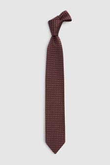 Signature Pattern Italian Fabric Tie