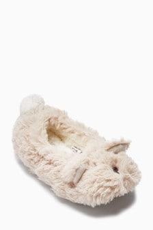 נעלי בית בסגנון בלט עם דובים (נוער)