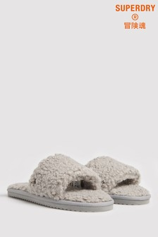 Superdry Grey Slipper Sliders