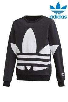 adidas Originals Black Big Trefoil Crew Sweater