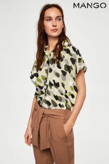 Mango Khaki Safari Shirt