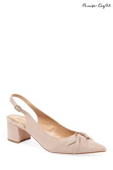 Phase Eight Pink Giselle Low Block Heel Court Shoe