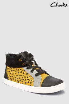Clarks Yellow Spot City Vine Toddler High Top Sneaker