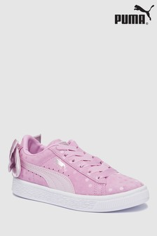 Puma® Pink Suede Bow