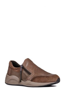 Geox Omaya Chestnut Slip-On Trainer