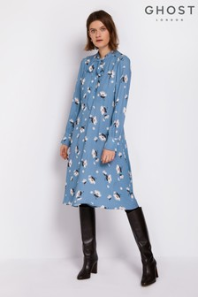 Ghost London Blue Holly Dress