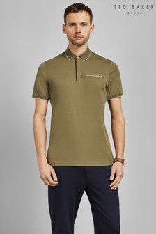 Ted Baker Khaki Short Sleeve Polo Shirt
