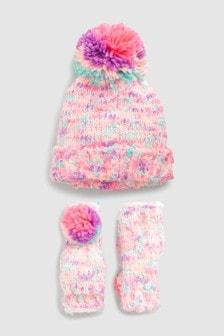 Fluro Hat And Gloves Set (Older)